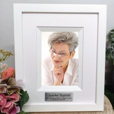 Memorial Personalised Photo Frame Silhouette White 4x6