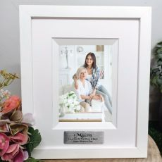 Mum Personalised Photo Frame Silhouette White 4x6