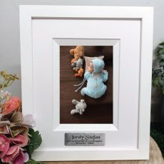 Naming Day Personalised Photo Frame Silhouette White 4x6