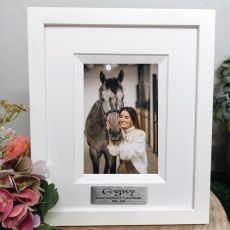 Pet Memorial Personalised Photo Frame Silhouette White 4x6