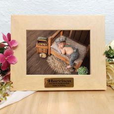 1st Birthday Limewash Wood Photo Frame