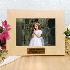 1st Holy Communion Limewash Wood Photo Frame