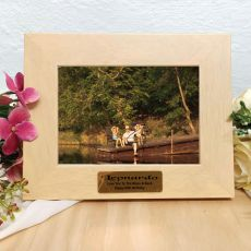60th Birthday Limewash Wood Photo Frame