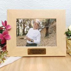 80th Birthday Limewash Wood Photo Frame