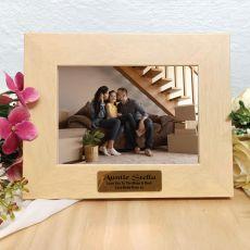 Aunt Limewash Wood Photo Frame
