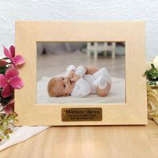 Baby Limewash Wood Photo Frame