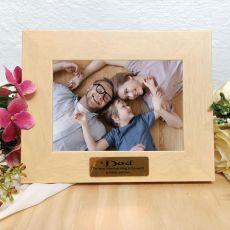 Dad Limewash Wood Photo Frame