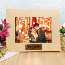 Engagement Limewash Wood Photo Frame