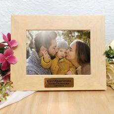 Godparents Limewash Wood Photo Frame