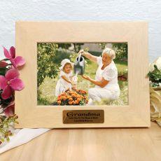 Grandma Limewash Wood Photo Frame