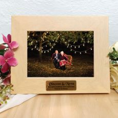 Personalised Limewash Wood Photo Frame