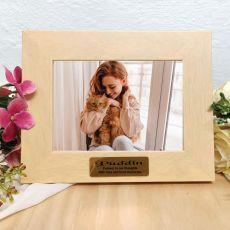 Pet Memorial Limewash Wood Photo Frame
