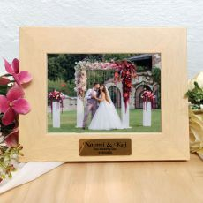 Wedding Limewash Wood Photo Frame