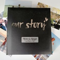 Our Story Personalised Engagement Album 200 Photo Black
