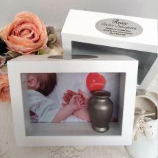 Baby Memorial Keepsake Shadow Box Photo Frame & Urn