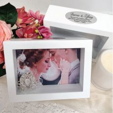 Engagement Keepsake Shadow Box Photo Frame 5x7
