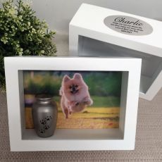 Pet Memorial Keepsake Shadow Box Photo Frame & Urn