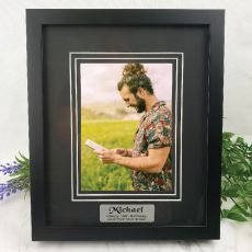 18th Personalised Photo Frame Black Timber Verdure 5x7