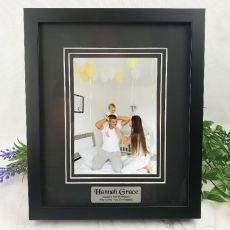 1st Personalised Photo Frame Black Timber Verdure 5x7