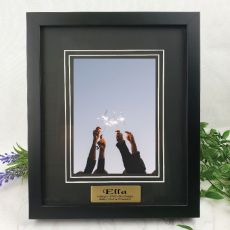 60th Personalised Photo Frame Black Timber Verdure 5x7