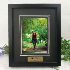 Birthday Photo Frame Black Timber 5x7