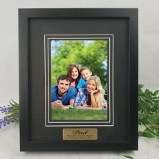 Dad Personalised Photo Frame Black Timber Verdure 5x7
