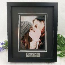 Engagement Photo Frame Black Timber 5x7