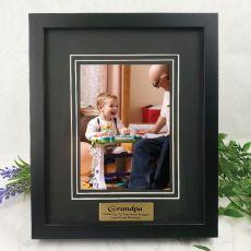 Grandpa Personalised Photo Frame Black Timber Verdure 5x7