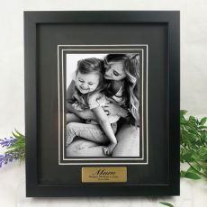 Mum Personalised Photo Frame Black Timber Verdure 5x7