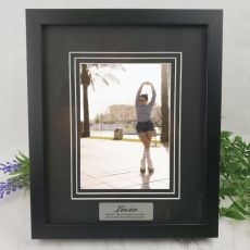 Personalised Photo Frame Black Timber Verdure 5x7