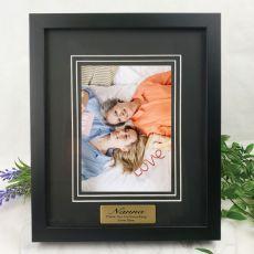 Nan Personalised Photo Frame Black Timber Verdure 5x7