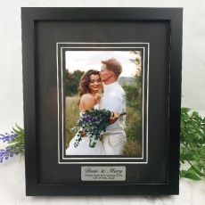 Wedding  Photo Frame Black Timber Verdure 5x7