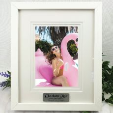 16th Personalised Photo Frame White Timber Verdure 5x7