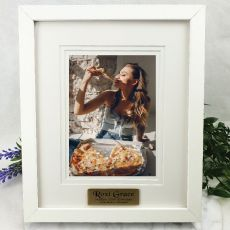 30th Personalised Photo Frame White Timber Verdure 5x7