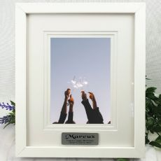 Birthday Photo Frame White Timber 5x7