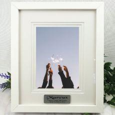 Birthday Personalised Photo Frame White Timber Verdure 5x7