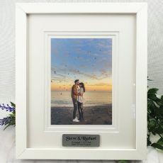 Engagement  Photo Frame White Timber Verdure 5x7