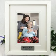 Grandma Personalised Photo Frame White Timber Verdure 5x7