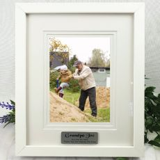 Grandpa Personalised Photo Frame White Timber Verdure 5x7