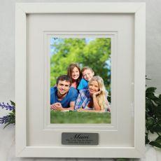 Mum Personalised Photo Frame White Timber Verdure 5x7