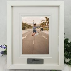 Personalised Photo Frame White Timber Verdure 5x7