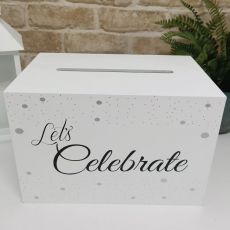 Lets Celebrate Wishing Well Wood Card Box
