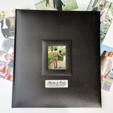 Personalised Anniversary Photo Album 500 Black
