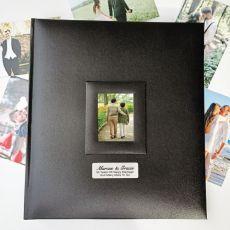 Personalised Anniversary Photo Album 500 Black