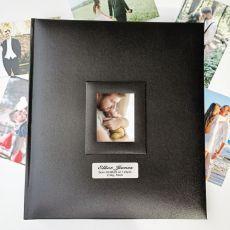 Personalised Baby Photo Album 500 Black