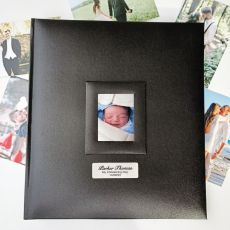 Personalised Christening Photo Album 500 Black