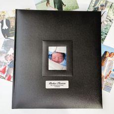 Personalised Christening Photo Album 500 Black