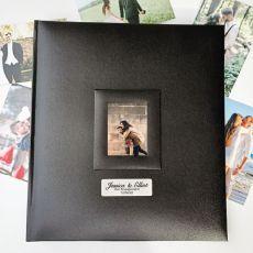 Personalised Engagement Photo Album 500 Black