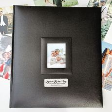 Personalised Memorial Photo Album 500 Black