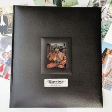 Personalised Retirement Photo Album 500 Black